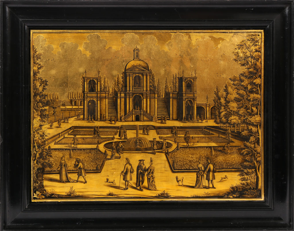 A REVERSE-GLASS PAINTING Attributed to Daniel Preissler