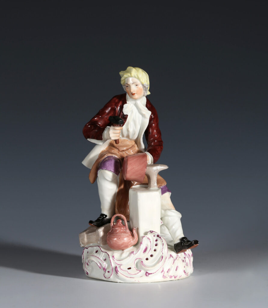 A MEISSEN FIGURE OF A COPPERSMITH