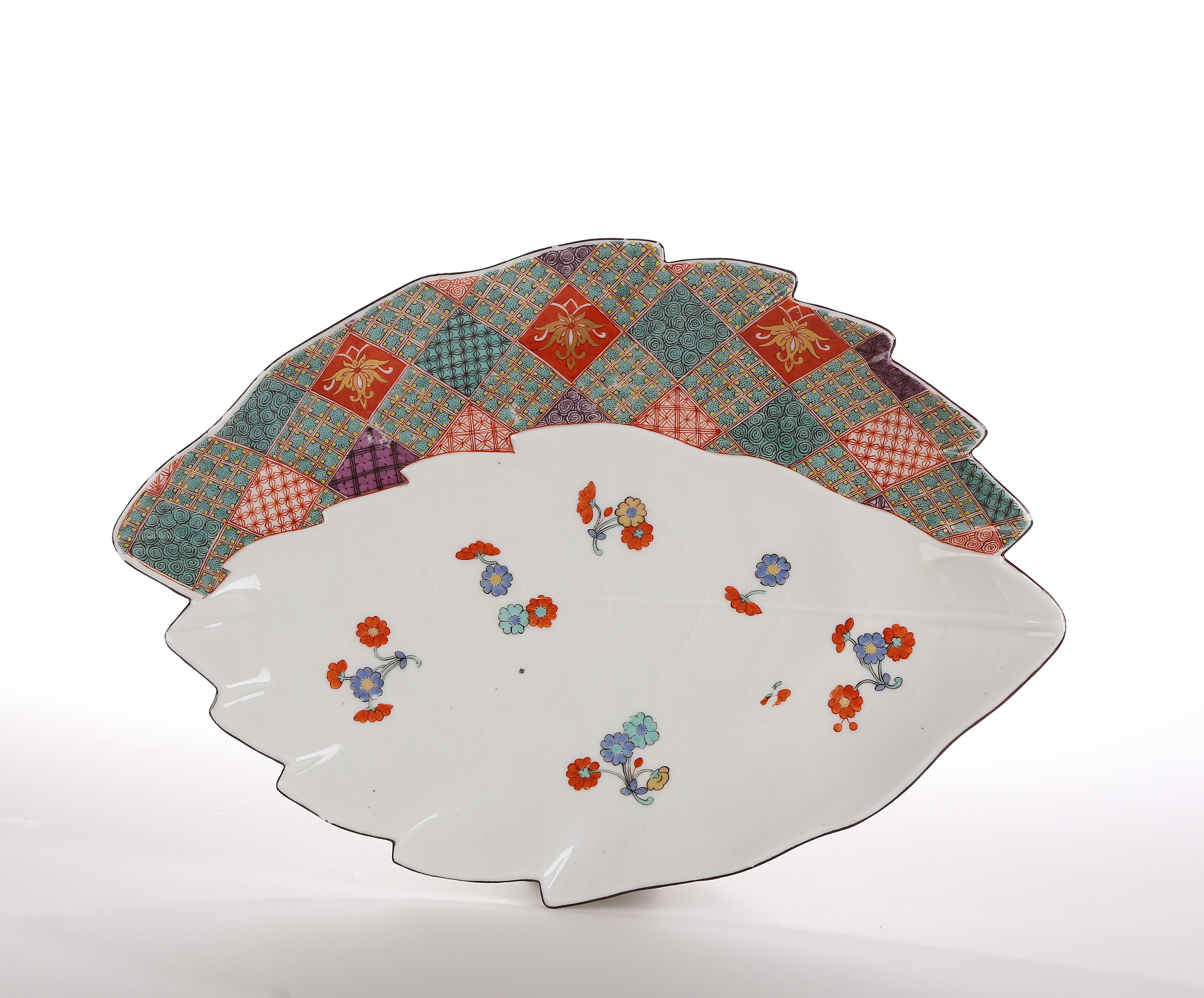 A Meissen Leaf-Shaped Dish