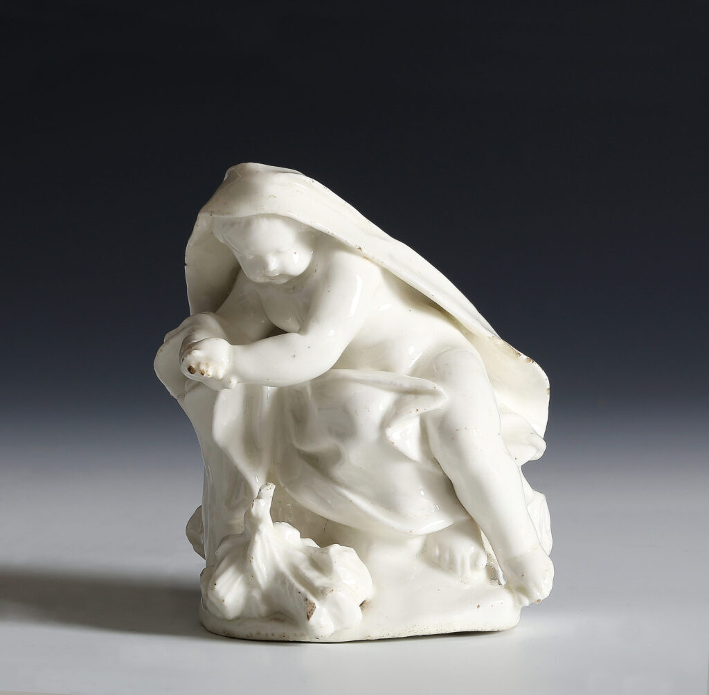 A DRY-EDGE DERBY FIGURE OF WINTER After a model by Agostino Carlini R.A.