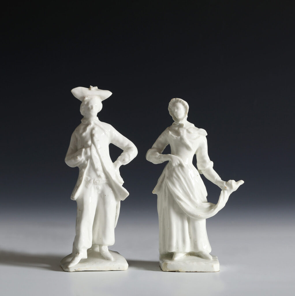 A PAIR OF BOW FIGURES OF A SAILOR AND HIS LASS By the 'Muses' modeller
