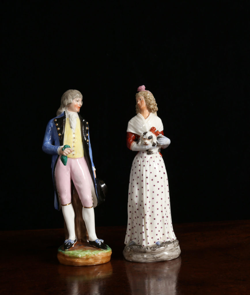 TWO NAPLES, REAL FABBRICA FERDINANDEA FIGURES OF A GENTLEMAN AND A LADY